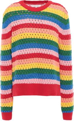 Chinti and Parker Crocheted Cotton Sweater