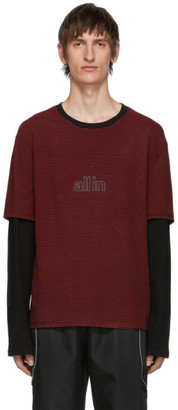 all in Black and Red Striped Long Sleeve T-Shirt