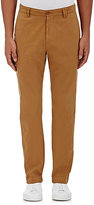 Barneys New York MEN'S COTTON TWILL SLIM-FIT CHINOS-BROWN SIZE 28