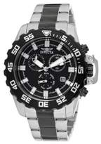 Invicta Men's Quartz Watch with Dial Chronograph Display and Silver Stainless Steel Bracelet 13630