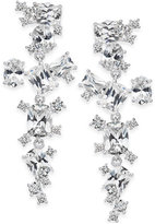 INC International Concepts Silver-Tone Crystal Linear Earrings, Only at Macy's
