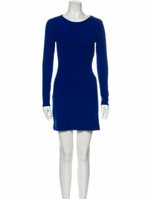 Reformation Crew Neck Mini Dress w/ Tags Blue