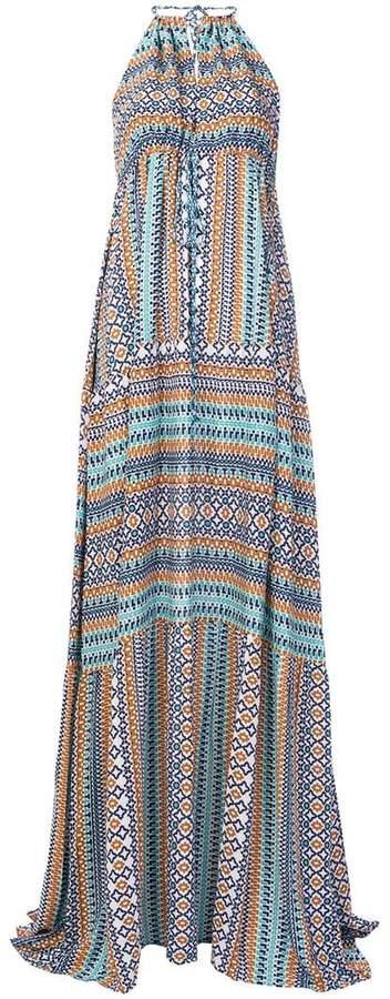 Fisico patterned halterneck dress