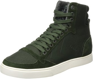 Hummel Unisex Adults' Slimmer Stadil Smooth Canvas Hi-Top Trainers