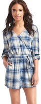 Gap Long sleeve plaid romper