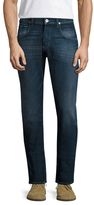 Hudson Blake Cotton Slim Straight Selvage Jeans