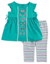 Kids Headquarters Little Girl's Two-Piece Top and Capri Pants Set