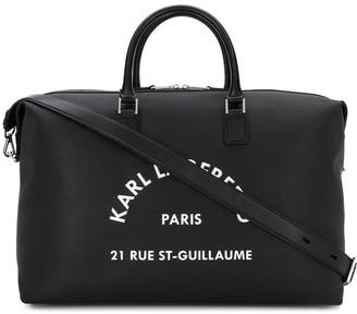 Karl Lagerfeld Paris Weekender printed logo tote bag