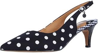 J. Renee Envizyn (Black/White Polka Dot) Women's Shoes