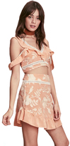 For Love & Lemons Mia Crop Top in Peach