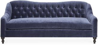 Kim Salmela Waverly Tufted Sofa - Navy Velvet