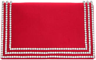 Nina Avalyn Crystal Embellished Border Clutch