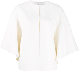 Valentino Open Front Draped Sleeves Jacket