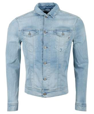 Replay Hyperflex Denim Jacket Colour: LIGHT WASH, Size: LARGE