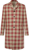 Valentino - Appliquéd Checked Virgin Wool Coat
