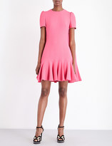 Alexander McQueen Ruffled crepe dress