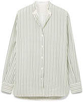 Victoria Beckham Striped Silk Shirt - Ivory