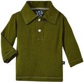 Kickee Pants Long Sleeve Polo - Moss-0-3 M