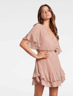 Ever New Sophie Plisse Mini Dress