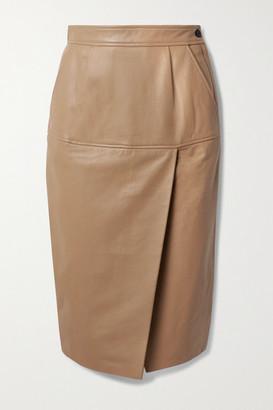 Equipment Khloelle Leather Skirt - Beige