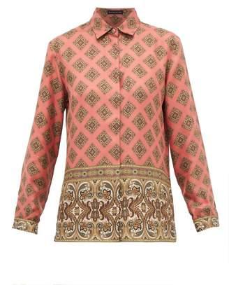 Etro Paisley Print Silk Shirt - Womens - Pink Multi