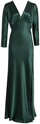 Mason by Michelle Mason Dolman Long Sleeve Gown