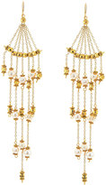 Nakamol Golden Pearl Dripping Chain Chandelier Earrings