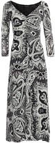Etro Ruched Front Paisley Midi Dress