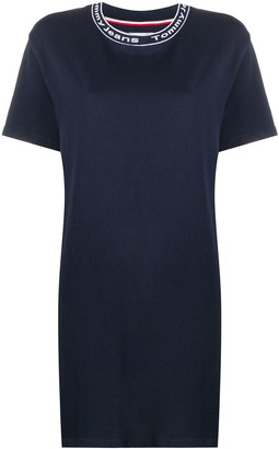 Tommy Jeans logo-neck T-shirt dress