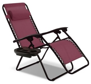 Zero Gravity Arcade Reclining/Folding Chair Freeport Park Color: Wine