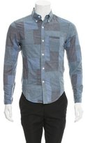 Band Of Outsiders Patchwork Button-Up Shirt