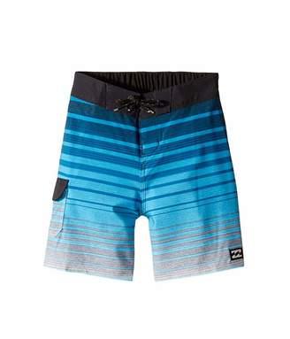 Billabong Kids All Day Stripe Pro Boardshorts (Toddler/Little Kids) (Blue) Boy's Swimwear