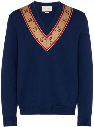 Gucci GG V-neck jumper