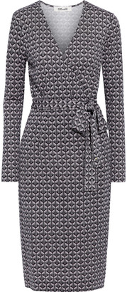 Diane von Furstenberg Karis Wrap-effect Printed Silk-jersey Dress