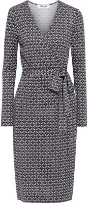Diane von Furstenberg Karis Wrap-effect Printed Silk-jersey Dress