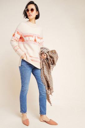 Anthropologie Aimee Pommed Alpaca Sweater