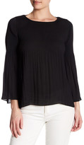 Max Studio Solid Bell Sleeve Blouse