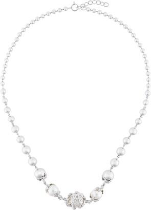 Kasun London Orb & 3 pearls necklace