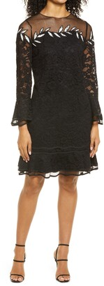 Shani Embroidered Lace Long Sleeve Dress