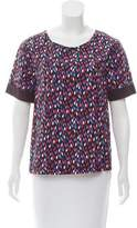 Ella Moss Geometric Print Short Sleeve Top