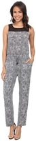 Vince Camuto Sleeveless Scale Imprint Jumpsuit