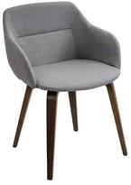 Lumisource Campania Mid-Century Modern Chair in Walnut Wood