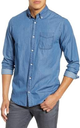 NN07 Levon BD BD 5136 Slim Fit Button-Down Denim Shirt