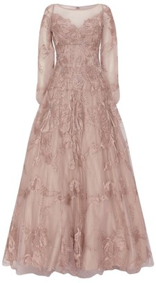 Jovani Embellished Long-Sleeved Gown