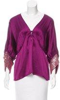 Roberto Cavalli Silk Embellished Blouse