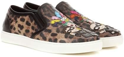 Dolce & Gabbana Leopard-printed slip-on sneakers