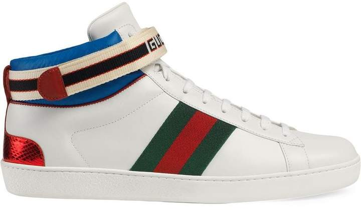 10cccd0a9b436 High Top Shoes Men Gucci