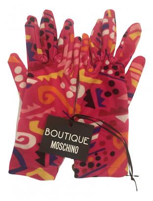 Moschino Pink Velvet Gloves