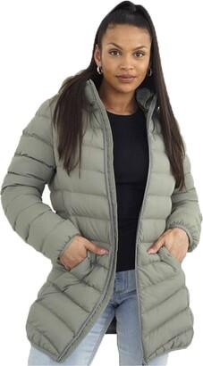 Brave Soul Ladies' Jacket GRANTLONGB Sage UK 10