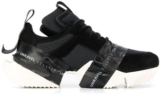 Unravel Project Logo Tape Chunky Sole Sneakers